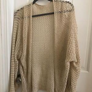 Brandy Melville Off-White Crochet Cardigan